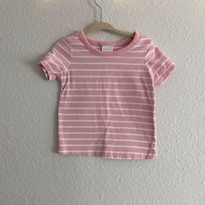 Hanna Andersson Crew Pink Striped Shirt